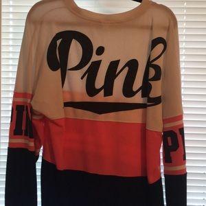 Pink New York Sweat Shirt Size Lg